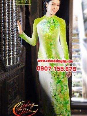 Vải áo dài hoa dọc toàn thân AD HA011