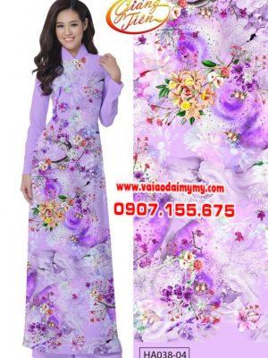 Vải áo dài Giáng Tiên rừng hoa AD HAD038