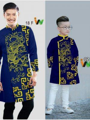 Vải áo dài nam AD IW18
