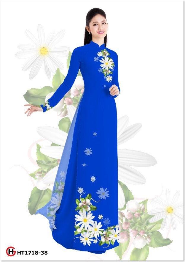 Vải áo dài hoa cúc AD HG HT1718