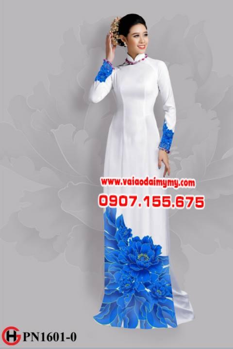 Vải áo dài hoa đẹp dưới tà AD 1