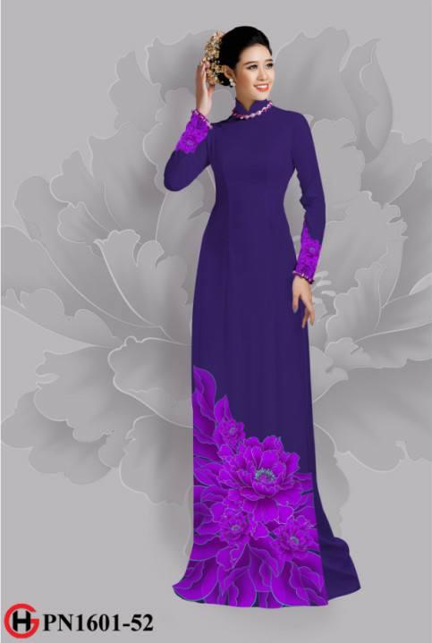 Vải áo dài hoa đẹp dưới tà AD 31