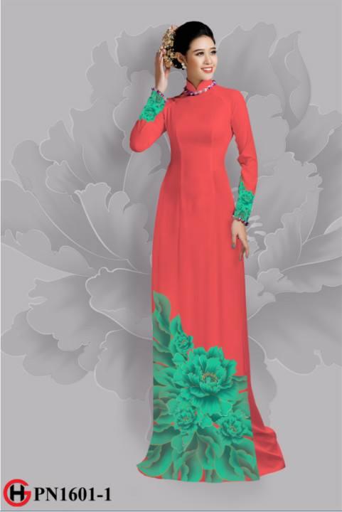 Vải áo dài hoa đẹp dưới tà AD 33