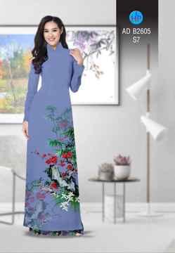 Vải áo dài Hoa in 3D AD B2605 27