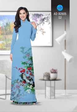 Vải áo dài Hoa in 3D AD B2605 26