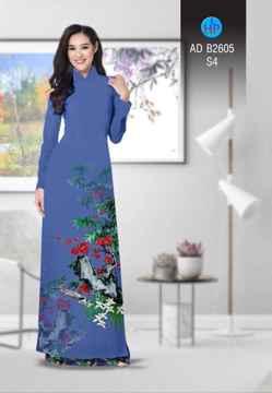 Vải áo dài Hoa in 3D AD B2605 28
