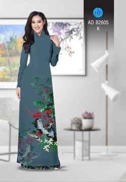 Vải áo dài Hoa in 3D AD B2605 30