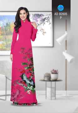 Vải áo dài Hoa in 3D AD B2605 33
