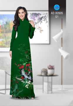 Vải áo dài Hoa in 3D AD B2605 36