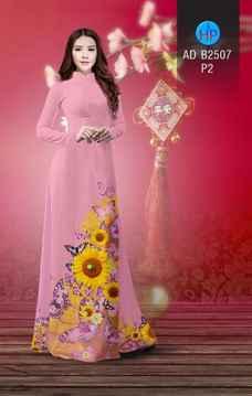 Vải áo dài Hoa hướng dương AD B2507 30