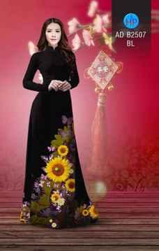 Vải áo dài Hoa hướng dương AD B2507 35