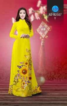 Vải áo dài Hoa hướng dương AD B2507 36