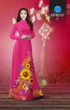 Vải áo dài Hoa hướng dương AD B2507 37