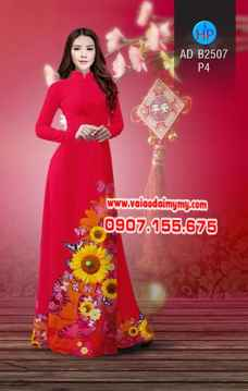 Vải áo dài Hoa hướng dương AD B2507 1