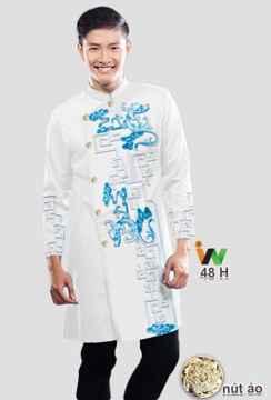 Vải áo dài nam hoạ tiết nam tính