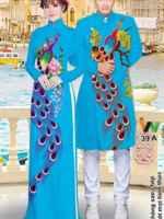Vải áo dài cặp đôi