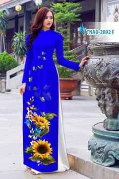 Vải áo dài hoa hướng dương AD TNAD 2892 26