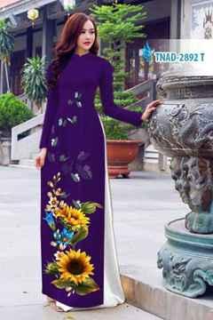 Vải áo dài hoa hướng dương AD TNAD 2892 28