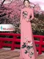 Vải áo dài hoa trên dưới AD TED a3360