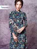 Vải áo dài trang trí rực rỡ AD TNAD 866