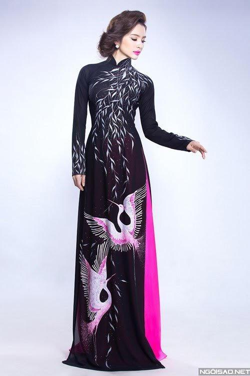 Những mẫu áo dài trung niên đẹp nhất hiện nay (1)