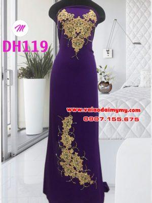vải áo dài sang trọng màu tím đính hoa trên dưới (1)