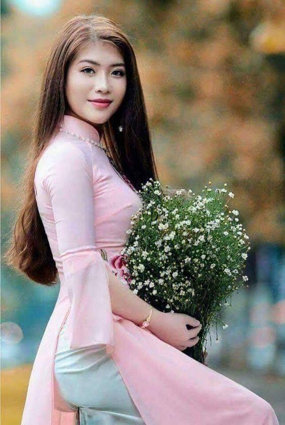 vải áo dài lụa trơn màu hồng