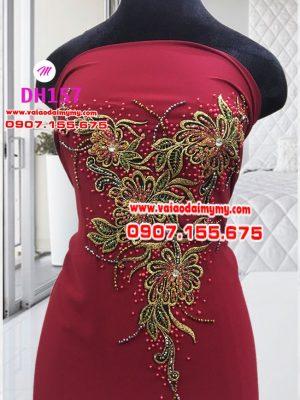 vải áo dài màu đỏ đô sang trọng (1)
