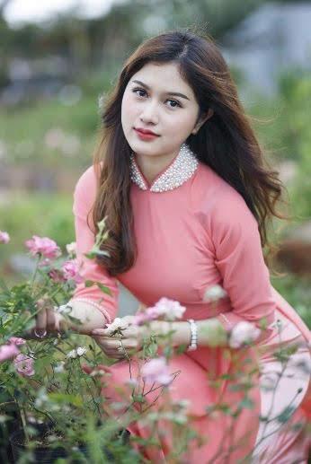 vải áo dài trơn màu hồng dâu