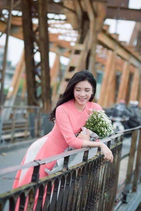 vải áo dài trơn màu hồng phấn