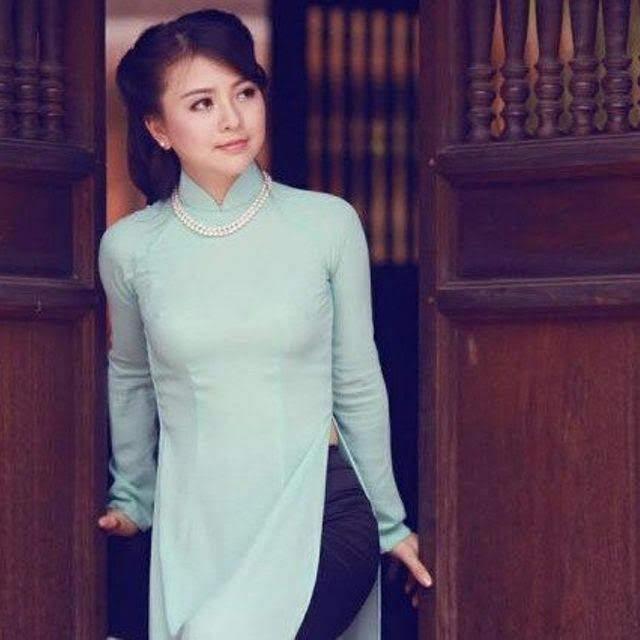 vải áo dài trơn màu xanh ngọc