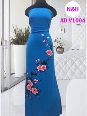 áo dài vẽ hoa rất đẹp