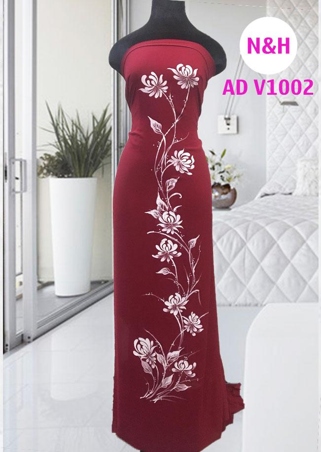 áo dài vẽ hoa sen