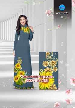 Vải áo dài Hoa hướng dương AD B1876 32