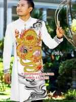 Vải áo dài cách tân nam hình rồng mới