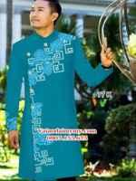 Vải áo dài nam hình hoa văn