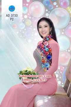 Vải áo dài Những hạt ngọc sắc màu AD 3733 35