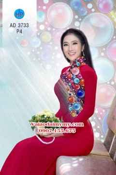 Vải áo dài Những hạt ngọc sắc màu AD 3733 34