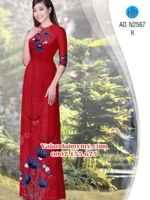 Vải áo dài Hoa Bồ Công Anh AD N2567