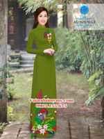 Vải áo dài Hoa lyly AD N2570