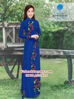 Vải áo dài Hoa và bi AD N2545