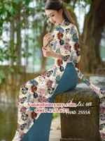 Vải áo dài hoa đẹp đón tết AD PHAD 2555