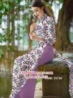 Vải áo dài hình lá trúc đều AD PHAD 2573