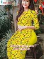 Vải áo dài hoa đều nguyên áo AD CHAD 1488