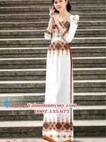 Vải áo dài hoa văn nhẹ nhàng AD PHAD 2400