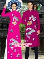 Vải áo dai cặp đôi cá chép AD IW 05