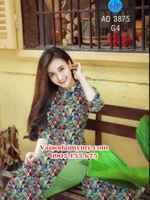 Vải áo dài Hoa văn Cô Ba Sài Gòn AD 3875