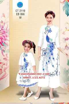 Vải áo dài Cách Tân Công Mẹ và Bé AD CT 2119