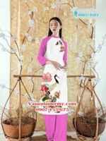 Vải áo dài cách tân chim công AD HTAD CT 0120