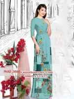 Vải áo dài hoa đẹp AD PHAD 2456